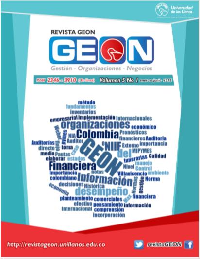 revista geon vol 5 No 1 enero junio 2018