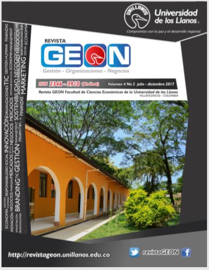 Revista Geon Vol 4 No 2 julio diciembre 2017